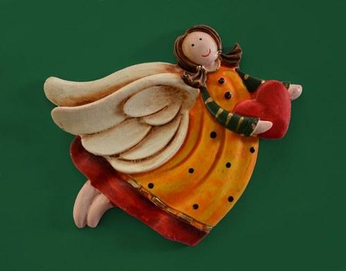 Forma Relief Andělíček letící se srdíčkem - 8cm