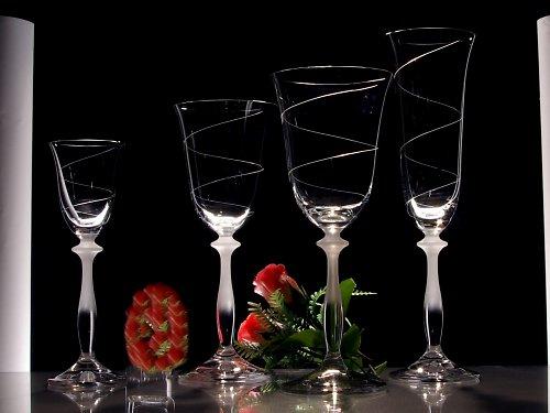 Set sklenic Angela se spirálkou