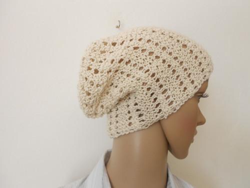 Dámská čepice - hučka hedvábí+bavlna