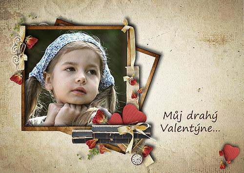 Valentýnské přáníčko v retro stylu