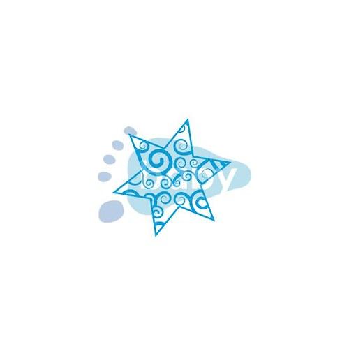 Vánoční hvězdička vzor 1