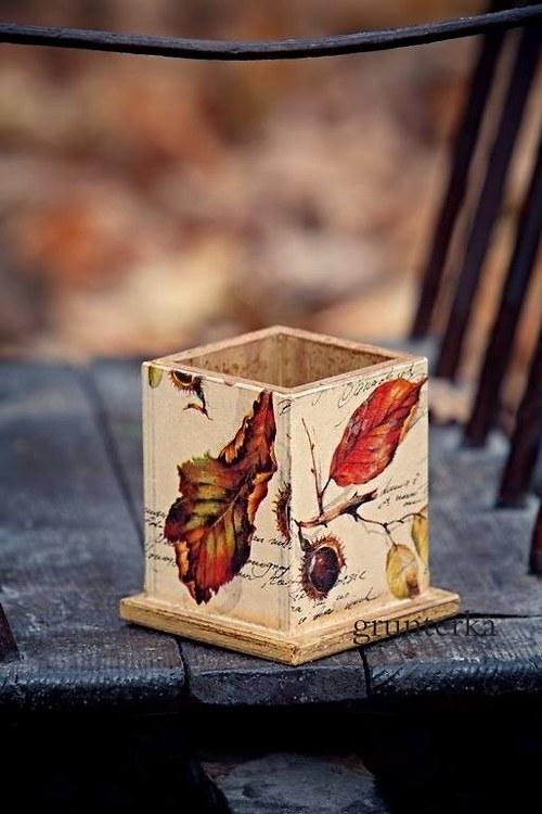 stojánek vintage podzimní