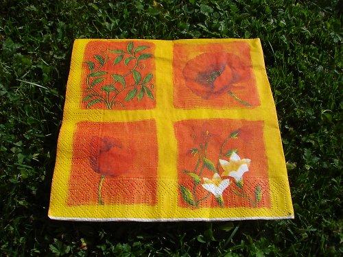 Ubrousek květiny ve žluté
