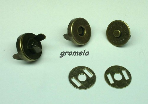 Magnetické zapínání staromosaz 14 mm