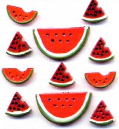 Plastové knoflíčky -Watermelon