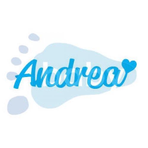 Razítko jméno Andrea se srdíčkem 6 x 1,5 cm