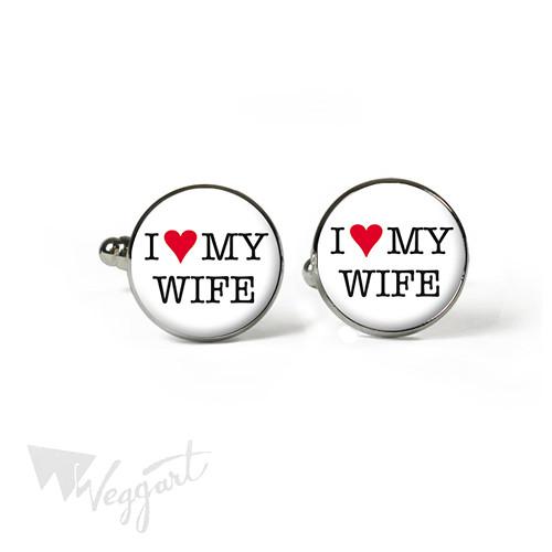 Manžetové knoflíčky / I Love My Wife / Bez balení