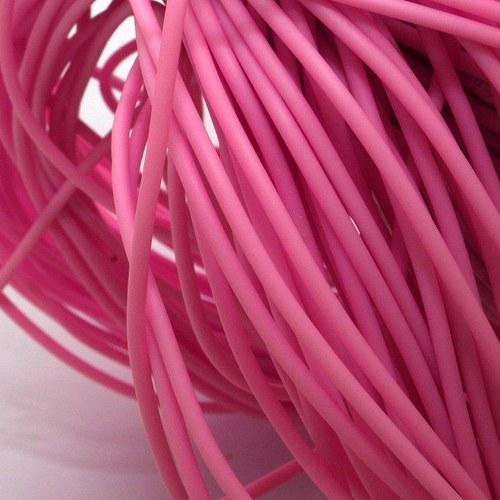 Růžová šňůrka - dutinka / 2 mm