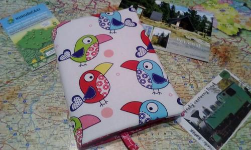 Obal na Turistický deník  s 2 kapsičkami