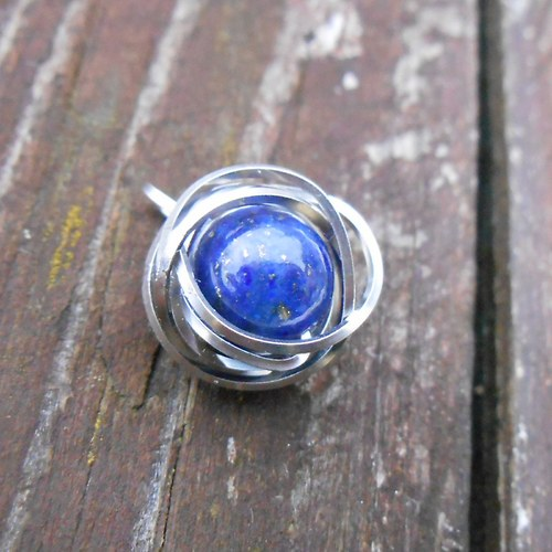 modrá planeta - přívěšek