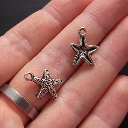Přívěsek mořská hvězdice, 2 kusy