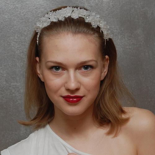 Perlová víla ... svatební čelenka
