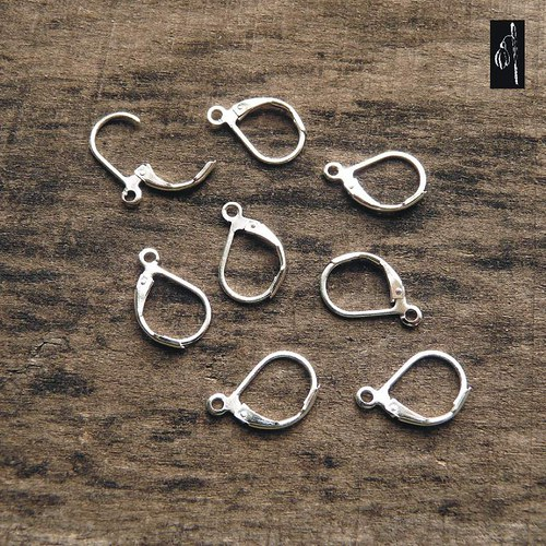 Uzavřené zapínání bez niklu, stříbrná b., 2 páry