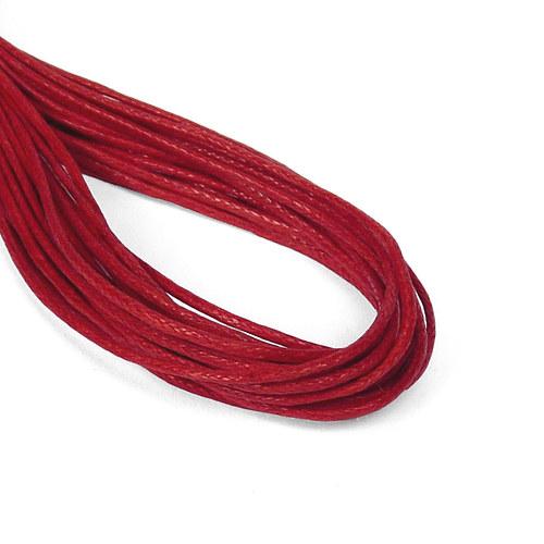 3m| Bavlněná šňůrka 1 mm - červená