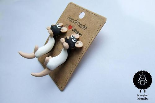 Potkani skrz ucho - Černá-bílá