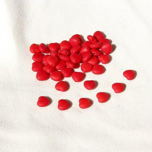 Srdíčka 8 mm, korálová 20 ks