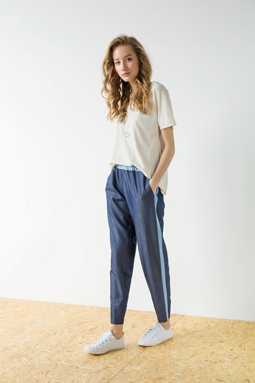 Modré kalhoty Strip