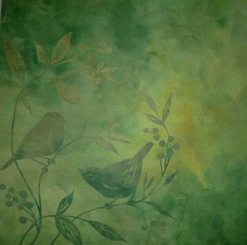 Papír Nature - Green Birds