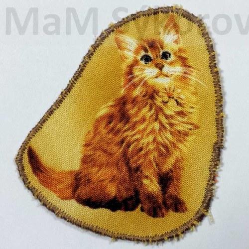 Nažehlovací záplata sedící kočička Sleva