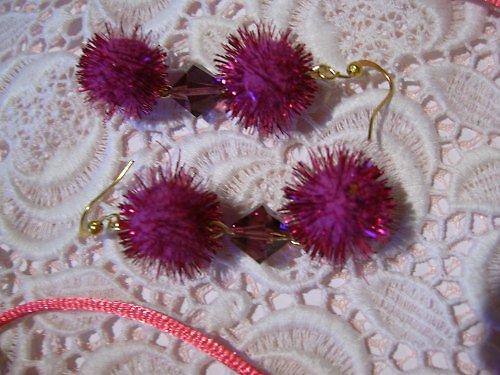 Fialové snění - náušnice