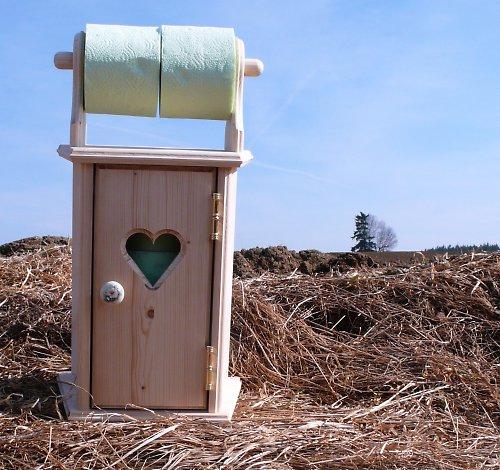 Dřevěná skříňka na toletní papír s držákem