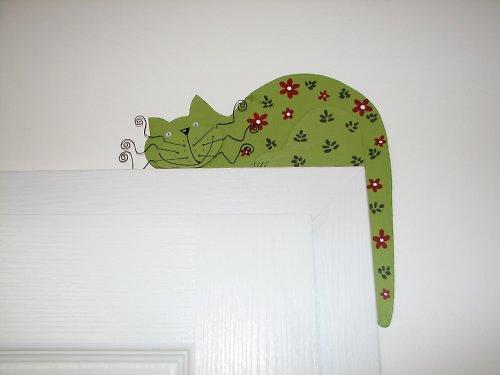 KYTIČKOVÁ dřevěná kočka na dveře nebo polic