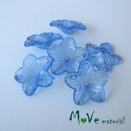 Akrylový květ 18mm, 6ks, modrý