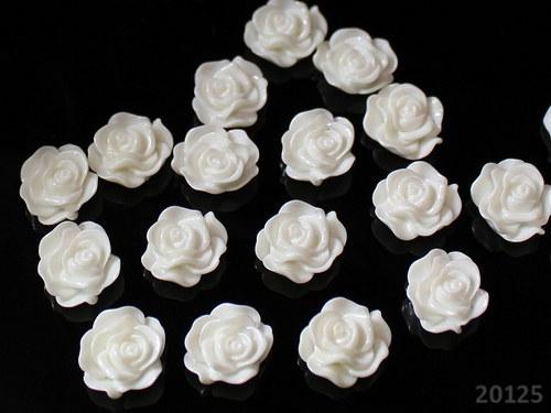 20125-B01 Kabošon květ 13/5 BÍLÝ, bal. 5ks AKCE!!