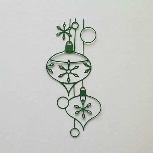 Výsek - Závěsný ornament - baňky