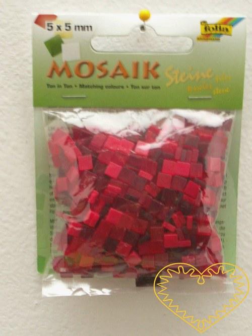 Pryskyřicová mozaika - červený mix - 45 g
