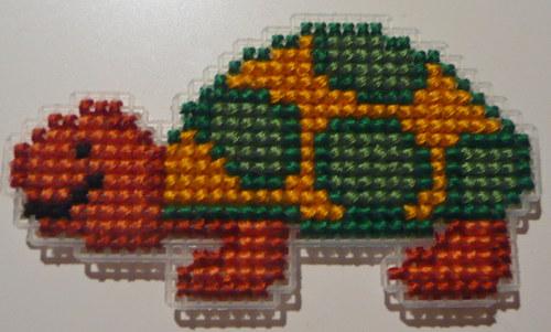 Vyšívaná magnetka - želva