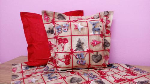 Vánoční patchwork polštář