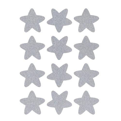 Reflexní nažehlovací potisk - hvězda (12ks)