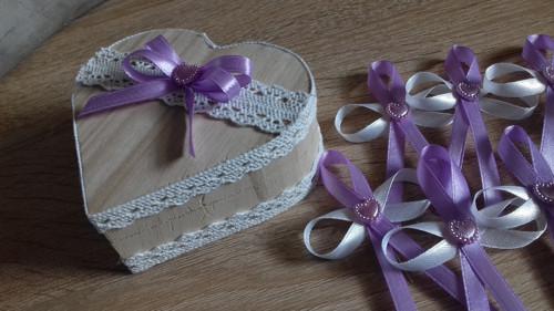 Krabička na prsteny, prstýnky - DŘEVĚNNÉ SRDCE