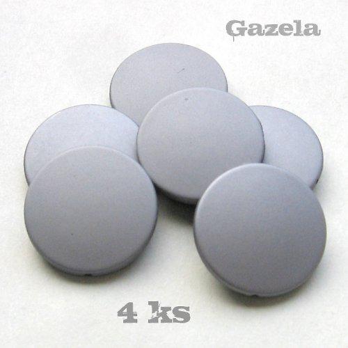 Pogumovaná šedostříbrná kolečka - 4 ks