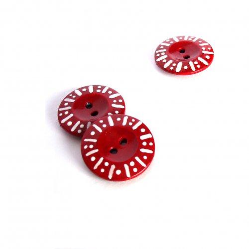 Těčka - dvojtečka v červené (4ks)