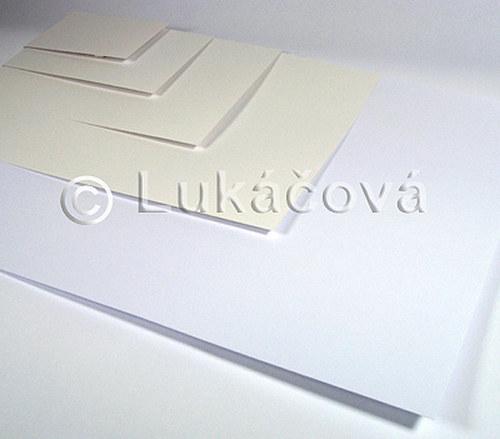 Enkaustický papír BÍLÝ - formát A6, 1ks