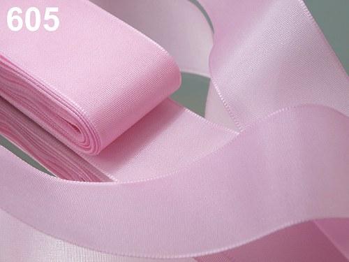 10 m taftové stuhy, barva světle růžová