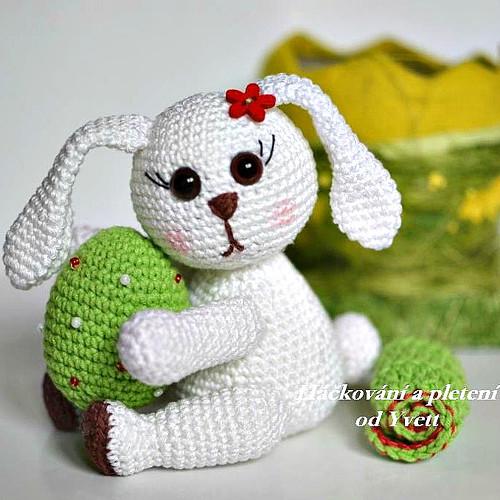 Velikonoční zajíček - návod na háčkování