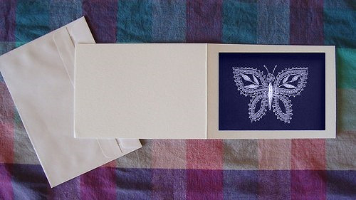 Paličkované přání - Motýlek 5