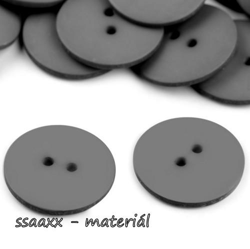 Plastový knoflík ~ 23 mm ~ 2ks ~ šedý