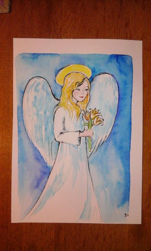 Anděl s liliemi