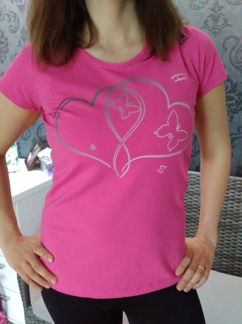 Tričko SRDCE pro maminku a dceru společné