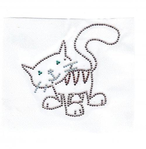 Hravá kočička - nažehlovací motiv