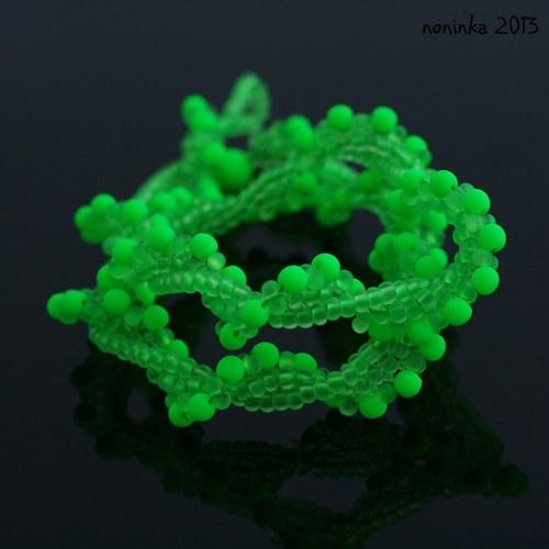 Svítící hadice zelená