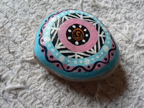 Mandala - malovaný kámen - těžítko