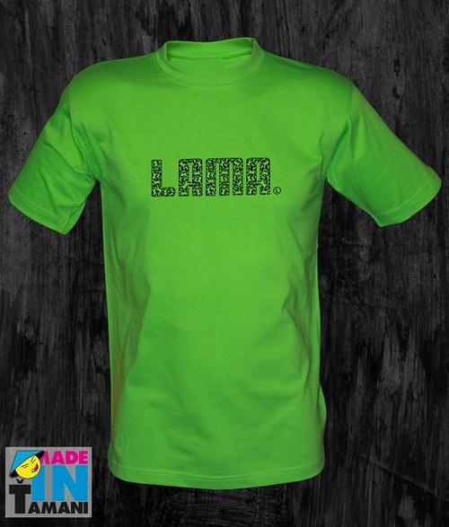 Pánské limetkově zelené tričko Lama 04