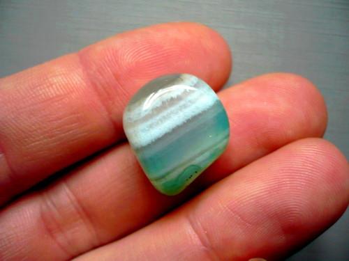Troml. kámen – achát zelený 18 mm, č.14