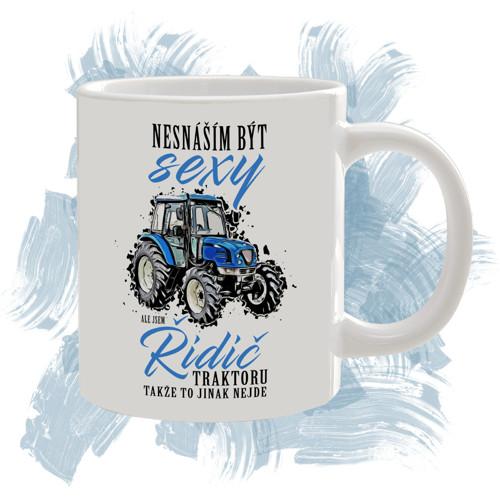 Hrnek s motivem - sexy řidič traktoru