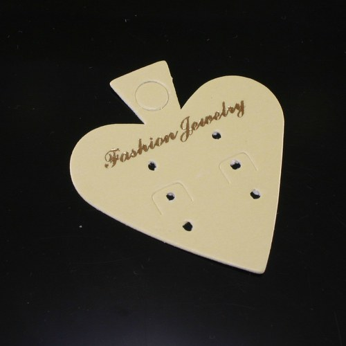 Náušnicová prodejní kartička - srdce, 5 ks